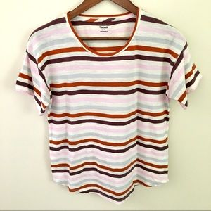 Madewell Whisper Cotton Striped Tee, Size Medium